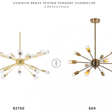 Daily Find | Chairish Brass Sputnik Pendant Chandelier