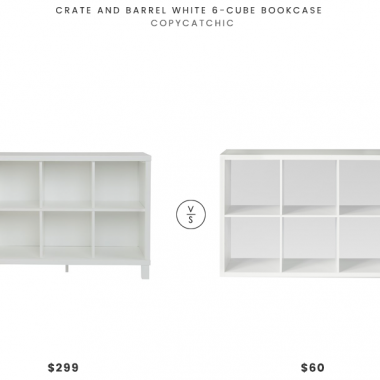 Crate and Barrel White 6-Cube Organizer $299 vs. Threshold 6-Cube Organizer Shelf $60, white cube bookcase look for less, copycatchic luxe living for less, budget home decor and design, daily finds, home trends, sales, budget travel and room redos