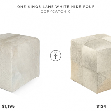 Daily Find | One Kings Lane White Hide Pouf