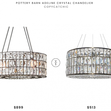 Pottery Barn Adeline Crystal Chandelier $899 vs. Overstock Monroe Round Clear Crystal Chandelier $513, crystal chandelier look for less, copycatchic luxe living for less, budget home decor and design, daily finds, home trends, sales, budget travel and room redos