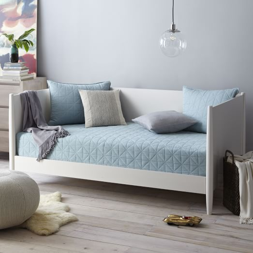 West Elm Mid Century Daybed $800 vs. Bethany Mid Century Modern Tapered Leg Wood Daybed $534, mid century modern daybed look for less, copycatchic luxe living for less, budget home decor and design, daily finds, home trends, sales, budget travel and room redos