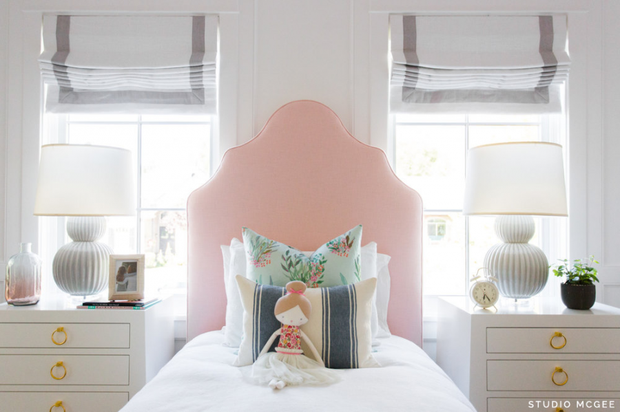 Serena & Lily Pondicherry Bed, Petal $1,798 vs. Skyline Furniture Light Pink Arched Bed $490, pink upholstered twin bed look for less, copycatchic luxe living for less, budget home decor and design, daily finds, home trends, sales, budget travel and room redos