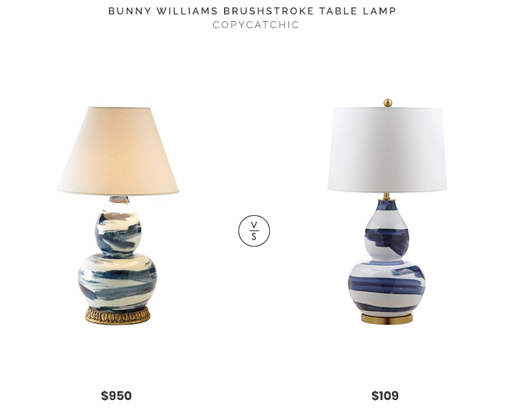 Bunny Williams Brushstroke Table Lamp $950 vs. Safavieh Aileen Table Lamp $109, brushstroke table lamp look for less, copycatchic luxe living for less, budget home decor and design, daily finds, home trends, sales, budget travel and room redos