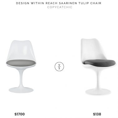 Design Within Reach Saarinen Tulip Chair $1700 vs. Bed Bath and Beyond Modway Lippa Vinyl Dining Chair $138, saarinen tulip chair look for less, copycatchic luxe living for less, budget home decor and design, daily finds, home trends, sales, budget travel and room redos