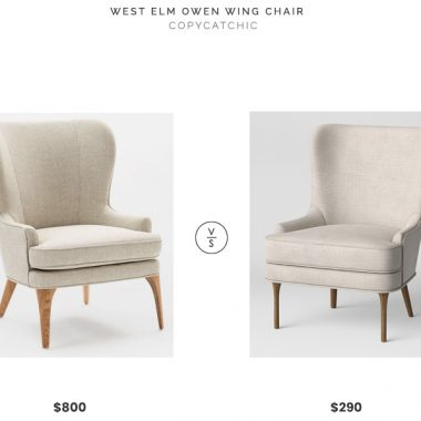 West Elm Owen Wing Chair $800 vs. Target Threshold Cheswold Wingback chair $290, gray wingback chair look for less, copycatchic luxe living for less, budget home decor and design, daily finds, home trends, sales, budget travel and room redos