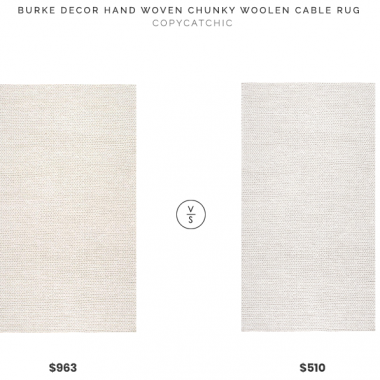 Daily Find | Burke Decor Chunky Woolen Cable Rug