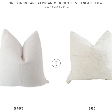 One Kings Lane Africa Mud Cloth Pillow $495 vs. Etsy PillowsByElissa Authentic Mud Cloth Pillow $85, white mudcloth pillow look for less, copycatchic luxe living for less, budget home decor and design, daily finds, home trends, sales, budget travel and room redos