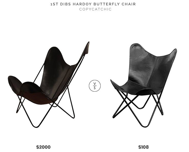 1st Dibs Hardoy Butterfly Chair $2000 vs. Walmart Butterfly Chair $108, black leather butterfly chair look for less, copycatchic luxe living for less, budget home decor and design, daily finds, home trends, sales, budget travel and room redos