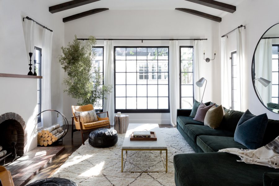 Anthropologie Edlyn Petite Two-Piece Chaise Sectional $3,298 vs. Wayfair Danyel Sectional  $1,221, charcoal velvet sectional look for less, copycatchic luxe living for less, budget home decor and design, daily finds, home trends, sales, budget travel and room redos