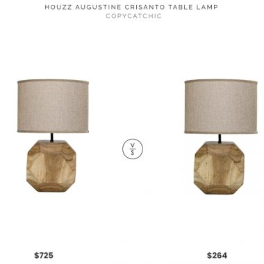 HOUZZ Augustine Crisanto Table Lamp $725 vs. Memoki Loraine Table Lamp $264, faceted wood table lamp look for less, copycatchic luxe living for less, budget home decor and design, daily finds, home trends, sales, budget travel and room redos