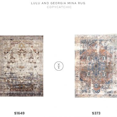 Lulu and Georgia Mina Rug $725 vs. Rugs USA Edessa Tribal Medallion Rug $264, multicolor oriental rug look for less, copycatchic luxe living for less, budget home decor and design, daily finds, home trends, sales, budget travel and room redos