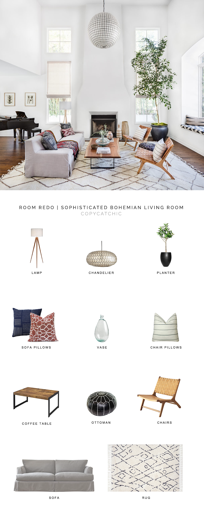 modern bohemian living room look for less, copycatchic luxe living for less, budget home decor and design, daily finds, home trends, sales, budget travel and room redos