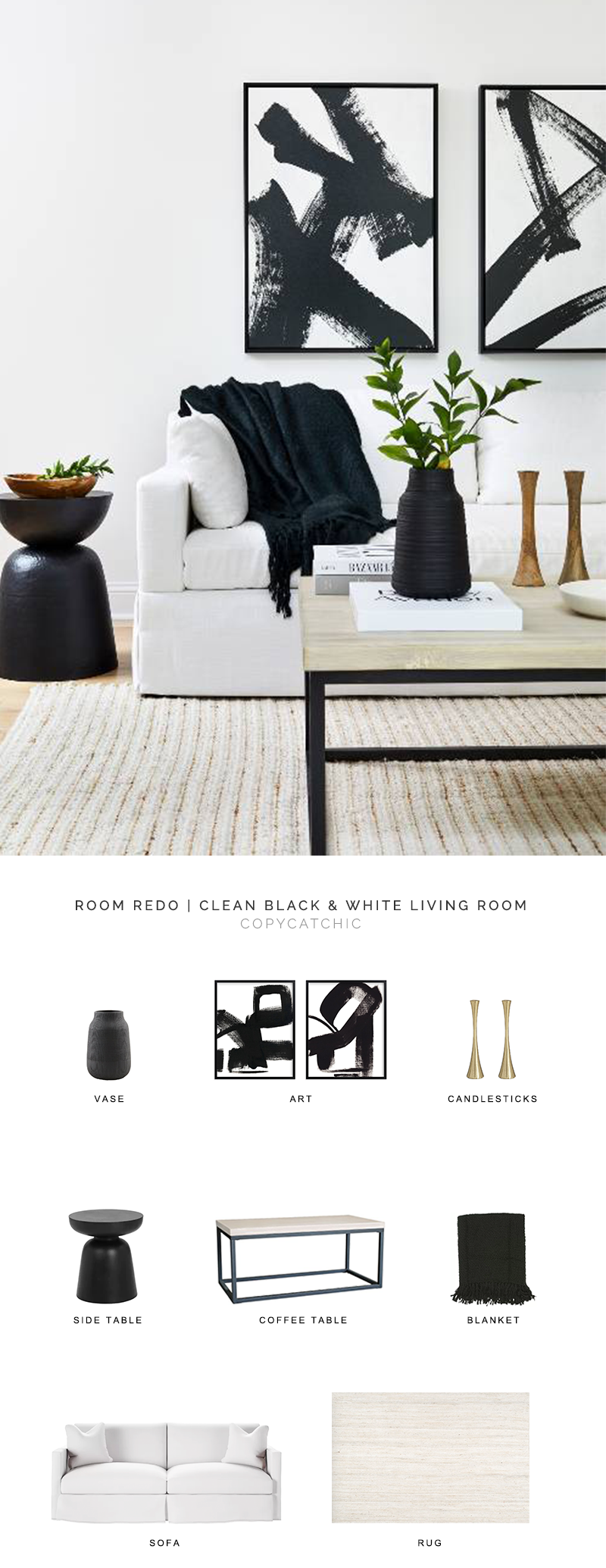 black and white living room look for less, copycatchic luxe living for less, budget home decor and design, daily finds, home trends, sales, budget travel and room redos