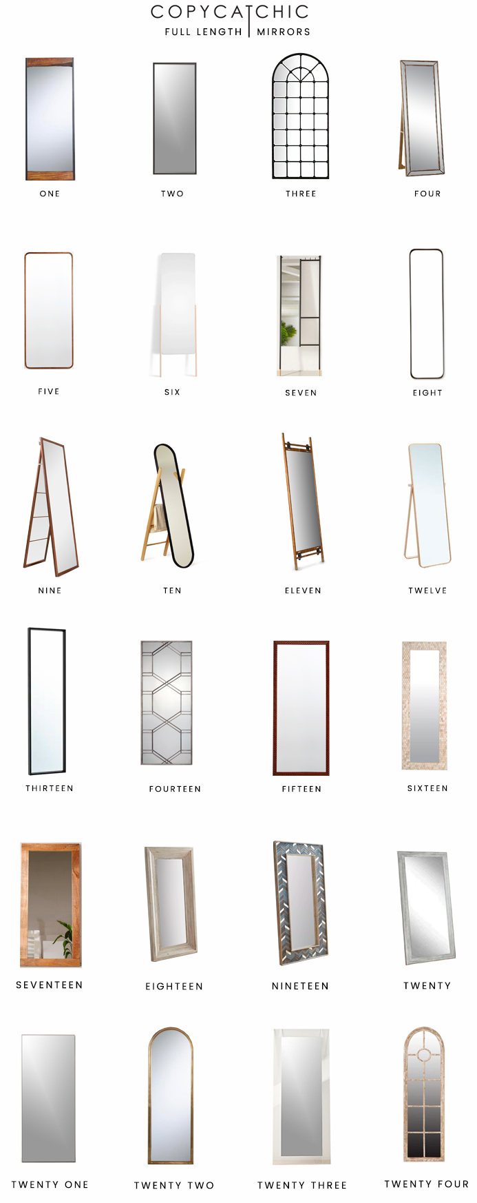 full length mirrors look for less, floor mirrors look for less, leaner mirrors look for less, copycatchic luxe living for less, budget home decor and design, daily finds, home trends, sales, budget travel and room redos