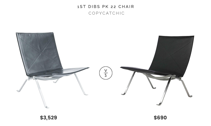 1st Dibs PK 22 Chair by Paul Kjærholm for Fritz Hansen $3,529 vs. Amazon AEON Fairfax Black Leather Lounge Chair $690, black leather lounge chair look for less, copycatchic luxe living for less, budget home decor and design, daily finds, home trends, sales, budget travel and room redos