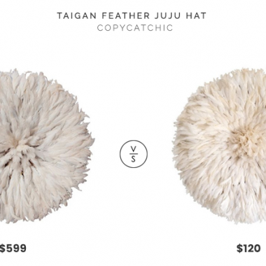 MooMoo Designs Juju Feather Hat $599 vs. Etsy Bamileke Juju Hat $120, white feather wall decor look for less, copycatchic luxe living for less, budget home decor and design, daily finds, home trends, sales, budget travel and room redos