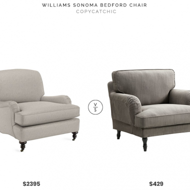 Williams Sonoma Bedford Chair $2395 vs. IKEA Stocksund Armchair $429, gray roll arm chair look for less, copycatchic luxe living for less, budget home decor and design, daily finds, home trends, sales, budget travel and room redos