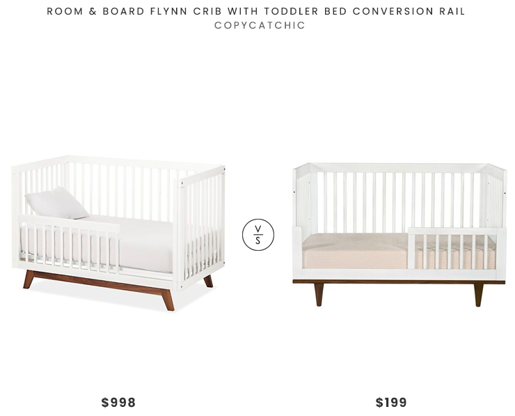 Room & Board Flynn Crib with Toddler Bed Conversion Rail $998 vs. Baby Mod Marley 3-in-1 Convertible Crib $199, modern crib look for less, copycatchic luxe living for less, budget home decor and design, daily finds, home trends, sales, budget travel and room redos