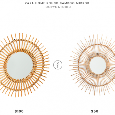 Zara Home Round Bamboo Mirror $100 vs. TJ Maxx Stylecraft Bamboo Wall Mirror $50, bamboo mirror look for less, copycatchic luxe living for less, budget home decor and design, daily finds, home trends, sales, budget travel and room redos