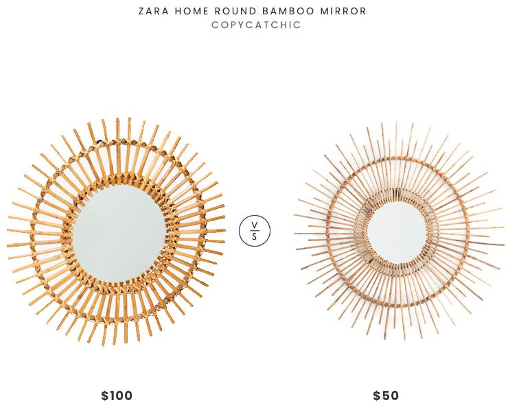 Daily Find Zara Home Round Bamboo Mirror Copycatchic