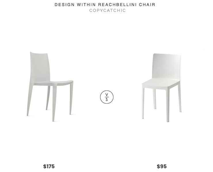 Design Within Reach Bellini Chair $175 vs. Hay Elementaire Chair $95, stackable dining chair look for less, copycatchic luxe living for less, budget home decor and design, daily finds, home trends, sales, budget travel and room redos