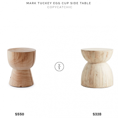 Mark Tuckey Egg Cup Side Table $550 vs. Anthropologie Betania Side Table $328, wood hourglass side table look for less, copycatchic luxe living for less, budget home decor and design, daily finds, home trends, sales, budget travel and room redos