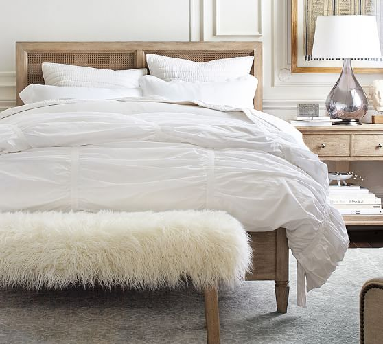 Pottery Barn Sausalito Bed $1,399 vs. Pier 1 Kenai Rattan & Wood Bed $600, cane bed look for less, copycatchic luxe living for less, budget home decor and design, daily finds, home trends, sales, budget travel and room redos