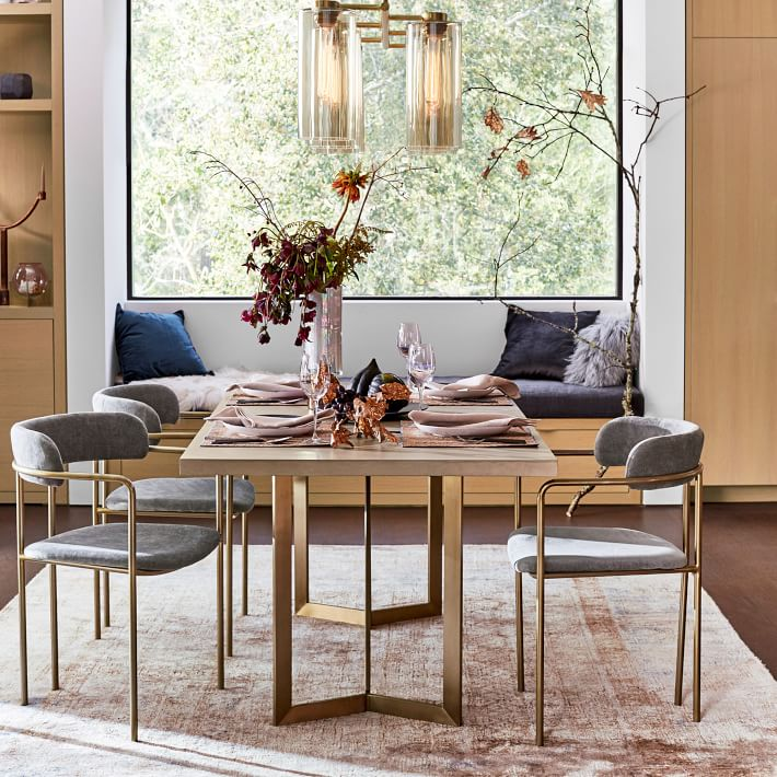 Daily Find Interior Define Audrey Fabric Dining Chair Copycatchic