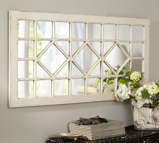 Pottery Barn Trellis Mirror$269 vs. KirklandsDistressed Cream Marquis Pane Mirror$80, trellis mirror look for less, copycatchic luxe living for less, budget home decor and design, daily finds, home trends, sales, budget travel and room redos
