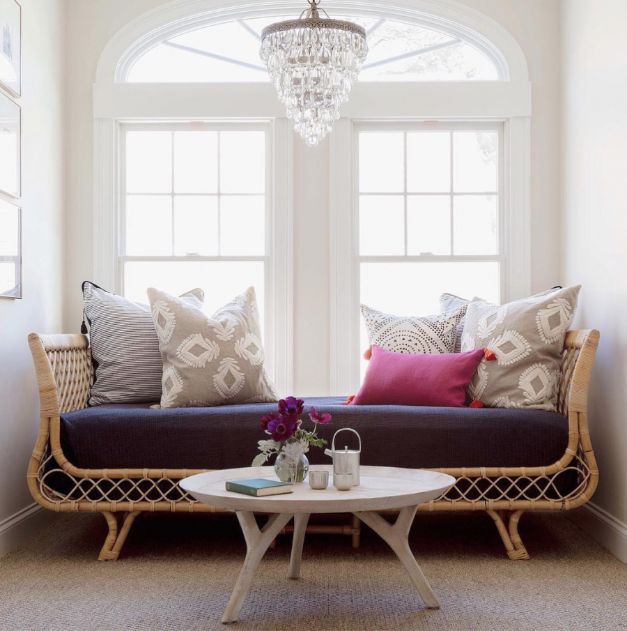 Serena & Lily Avalon Daybed $1,198 vs. Grandin Road Paloma Bench $399, rattan daybed look for less, copycatchic luxe living for less, budget home decor and design, daily finds, home trends, sales, budget travel and room redos