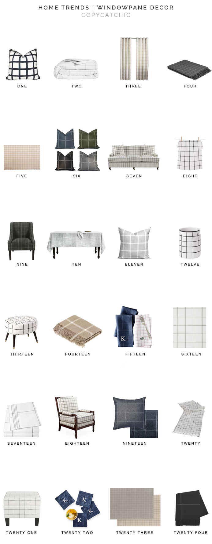windowpane check decor for less, windowpane plaid decor, windowpane print decor, copycatchic luxe living for less, budget home decor and design, daily finds, home trends, sales, budget travel and room redos