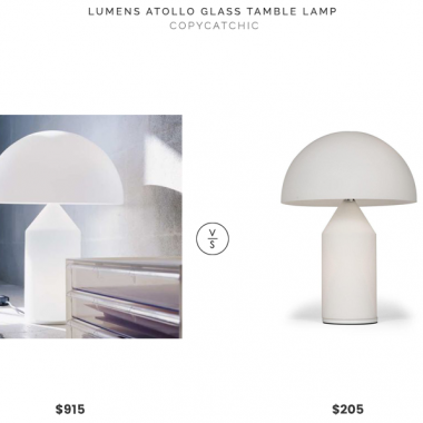 Lumens Atollo Glass Table Lamp$915 vs. France & Son Atollo Table Lamp$205, atollo lamp look for less, copycatchic luxe living for less, budget home decor and design, daily finds, home trends, sales, budget travel and room redos