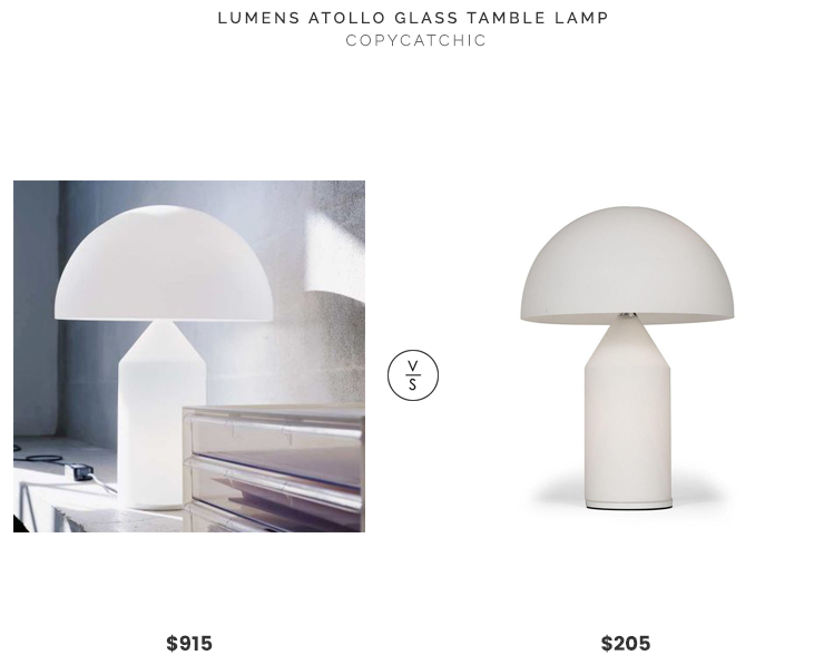 Lumens Atollo Glass Table Lamp $915 vs. France & Son Atollo Table Lamp $205, atollo lamp look for less, copycatchic luxe living for less, budget home decor and design, daily finds, home trends, sales, budget travel and room redos