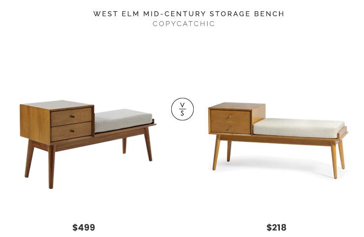 West Elm Mid Century Storage Bench 499 Vs Belham Living Finn Modern