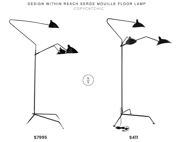 Design Within Reach Serge Mouille Floor Lamp $7995 vs. Bed Bath and Beyond Modway View Floor Lamp $411, mouille floor lamp look for less, copycatchic luxe living for less, budget home decor and design, daily finds, home trends, sales, budget travel and room redos