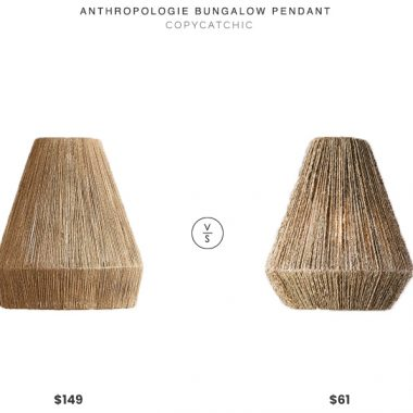 Anthropologie Bungalow Pendant $140 vs. Walmart Lennat Seagrass Pendant $61, seagrass pendant look for less, copycatchic luxe living for less, budget home decor and design, daily finds, home trends, sales, budget travel and room redos