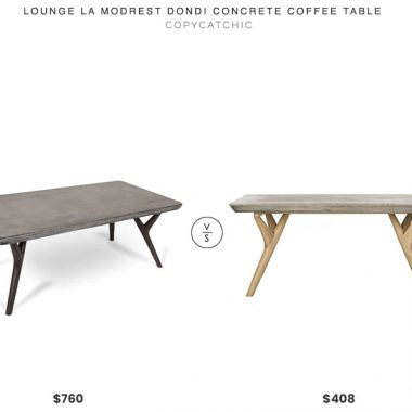 Lounge LA Modrest Dondi Concrete Coffee Table $760 vs. Wayfair Ryker Concrete Coffee Table $408, concrete coffee table look for less, copycatchic luxe living for less, budget home decor and design, daily finds, home trends, sales, budget travel and room redos