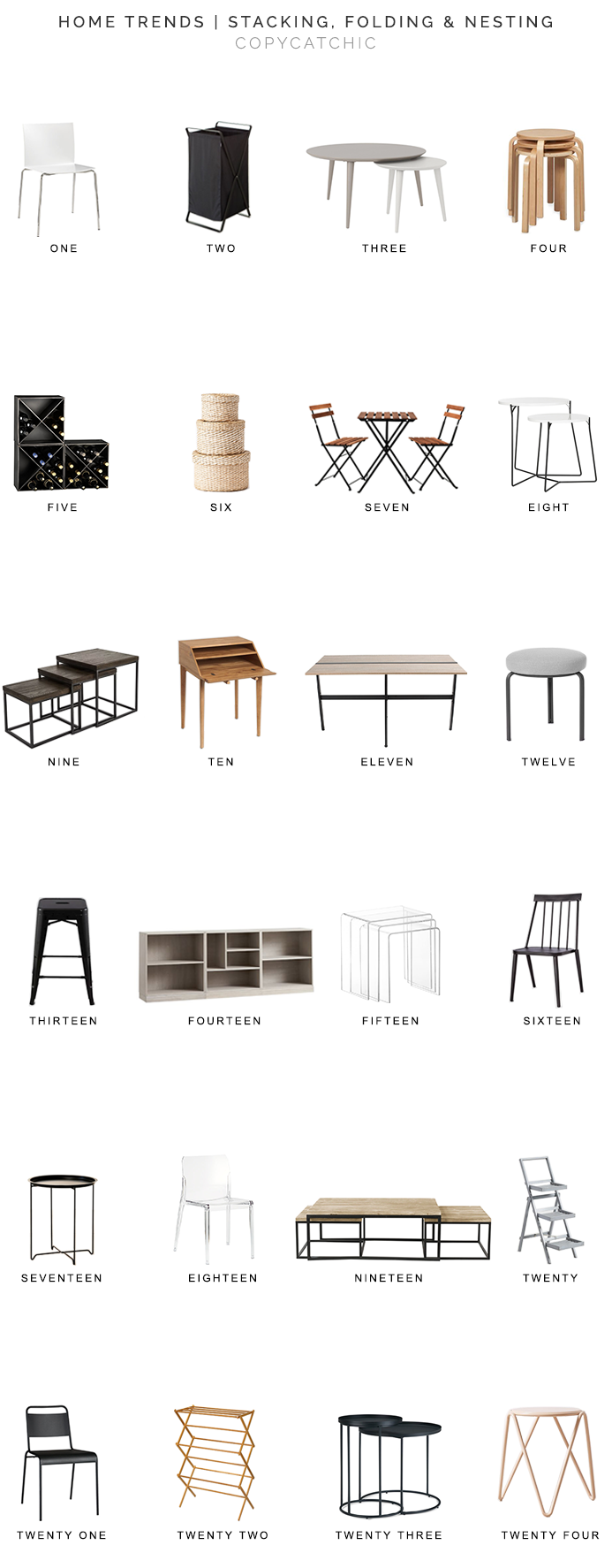 nesting tables for less, stacking furniture for less, folding furniture for less, copycatchic luxe living for less, budget home decor and design, daily finds, home trends, sales, budget travel and room redos