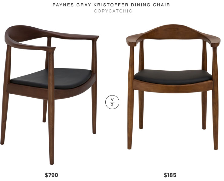Paynes Gray Kristoffer Dining Chair $790 vs. Hayneedle EdgeMod Kennedy Arm Chair $185, midcentury dining chair look for less, copycatchic luxe living for less, budget home decor and design, daily finds, home trends, sales, budget travel and room redos
