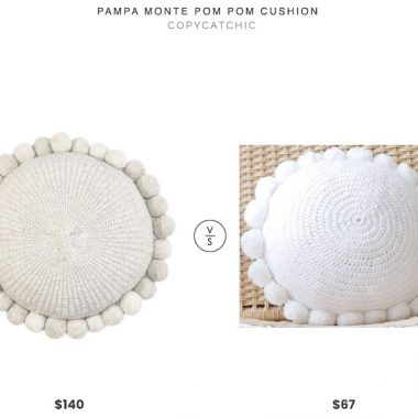 Pampa Monte Pom Pom Cushion $140 vs. Etsy Round Cotton Pom Pom Cushion $67, pom pom pillow look for less, copycatchic luxe living for less, budget home decor and design, daily finds, home trends, sales, budget travel and room redos