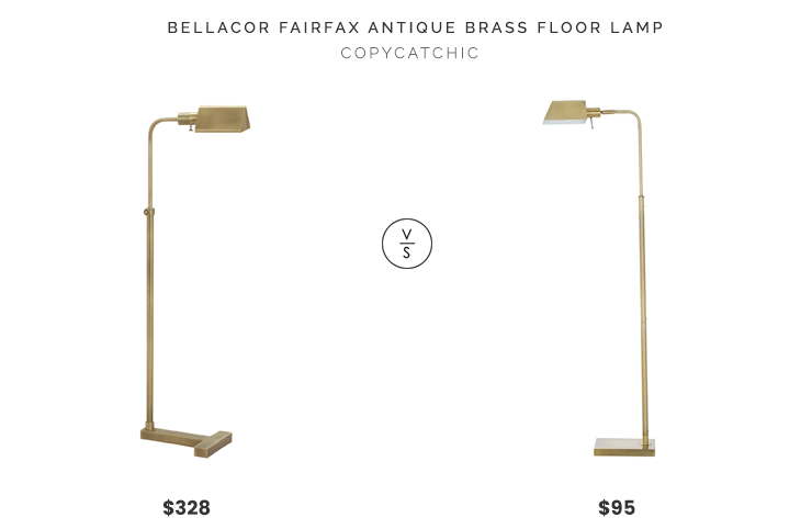 Bellacor House of Troy Fairfax Antique Brass One-Light Floor Lamp $328 vs. Overstock Catalina Lighting Pharmacy Floor Lamp $95, brass pharmacy floor lamp look for less, copycatchic luxe living for less, budget home decor and design, daily finds, home trends, sales, budget travel and room redos
