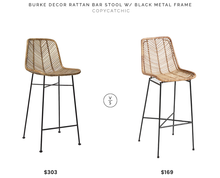 Daily Find Burke Design Rattan Bar Stool With Black