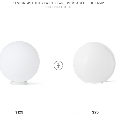 DWR Portable LED Lamp $129 vs. IKEA FADO Table Lamp with LED Bulb $25, globe table lamp look for less, copycatchic luxe living for less, budget home decor and design, daily finds, home trends, sales, budget travel and room redos