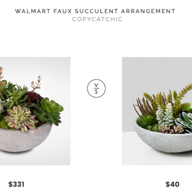 Walmart Faux Succulent Arrangement in Modern Cement Bowl $331 vs. Jamali Garden Faux Succulent Mix in Cement Bowl $40, faux succulent bowl look for less, copycatchic luxe living for less, budget home decor and design, daily finds, home trends, sales, budget travel and room redos