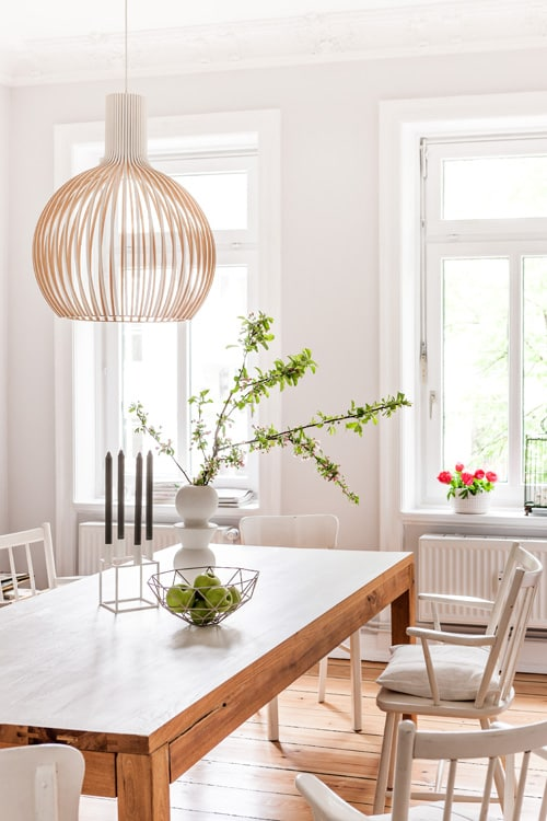 Interior Deluxe Octo Pendant Lamp $2039 vs. Etsy Secto Octo Pendant Lamp $325, birch wood light fixture look for less, copycatchic luxe living for less, budget home decor and design, daily finds, home trends, sales, budget travel and room redos