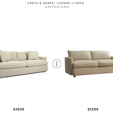 Crate & Barrel Lounge II Sofa $1699 vs. Brayden Studio Brimfield Sofa $1299, beige two seat sofa look for less, copycatchic luxe living for less, budget home decor and design, daily finds, home trends, sales, budget travel and room redos