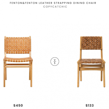 Fenton&Fenton Leather Strapping Dining Chair $450 vs. Opalhouse Ceylon Woven and Wood Dining Chair $133, leather strap dining chair look for less, copycatchic luxe living for less, budget home decor and design, daily finds, home trends, sales, budget travel and room redos