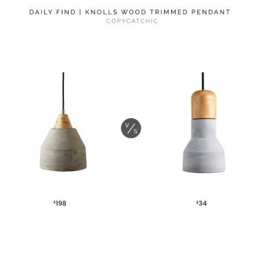 Serena & Lily Knolls Wood Trimmed Pendant $198 vs. Amazon Light Society Rochester Mini Pendant Light $34, concrete pendant light look for less, copycatchic luxe living for less, budget home decor and design, daily finds, home trends, sales, budget travel and room redos