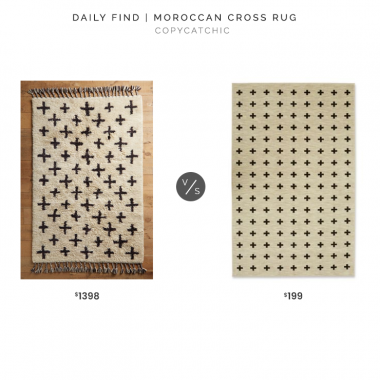 Anthropologie Moroccan Cross Rug $1398 vs. Mohawk Home Aurora Sahana Area Rug $199, cross rug look for less, copycatchic luxe living for less, budget home decor and design, daily finds, home trends, sales, budget travel and room redos