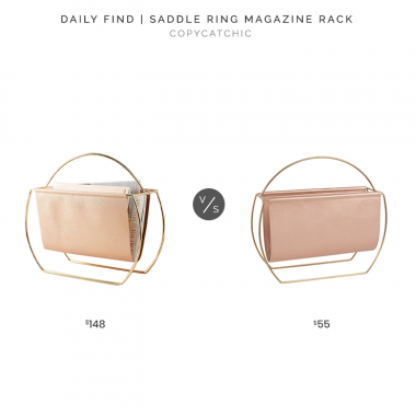 Anthropologie Saddle Ring Magazine Rack $148 vs. Maisons du Monde Antique Pink & Gold Magazine Rack $55, pink magazine rack look for less, copycatchic luxe living for less, budget home decor and design, daily finds, home trends, sales, budget travel and room redos